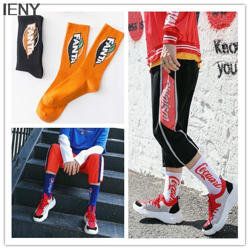 IENY Street skateboard personality socks couple autumn socks Europe and the United States street ins socks 10pairs