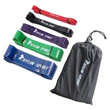 Набор из 5 латексных подтягивающих лент, Эспандеры для фитнеса, тела, тренажерного зала, силовая тренировка, пауэрлифтинг для оптовой продажи