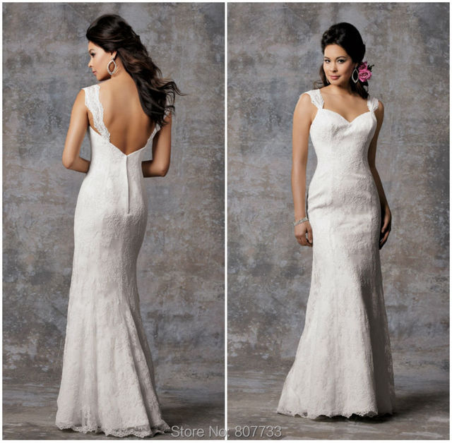Bridals Cw3506 Clic Mermaid Lace Simple Wedding Dresses Without Trains