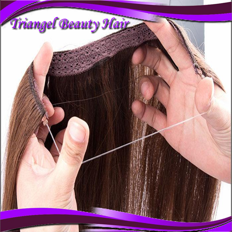 Fish Wire Hair Extension 16 30 Best Length Flip In Hair Extension