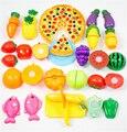 24 pçs/set Corte De Plástico de Frutas Legumes Cozinha Brinquedos Educação infantil Brinquedo Clássico Pretend Play Cozinhar Brinquedo para o Bebê Crianças Criança