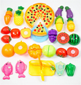 24pcs/Set Plastic Fruit Vegetable Kitchen Cutting Toys Early Education Classic Toy Pretend Play Cook Toy for Baby Kids Child