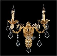 Luxurious K9 Crystal Wall Light Gold or Silver Color Wall Sconce Lamp Crystal Wall Brackets Lustre for Living room Bedroom Hotel(China)