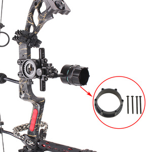 Image 2 - 1pc Archery Adapter Compound Bow Sight Scope Rail Adapter Set Used For Shooting Aiming Accessory