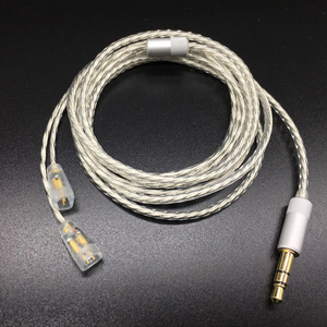 Image 2 - כבל שדרוג רך עבור Sennheets ie80 בציפוי כסף DIY עבור Shure SE535 SE215 אוזניות fone de אוזניות ouvido