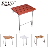 FRUD wall mounted chairs Bench Shower folding seat folding Spa Bench Bath bathroom Shower Seat stool Solid Seat Toilet Chairs
