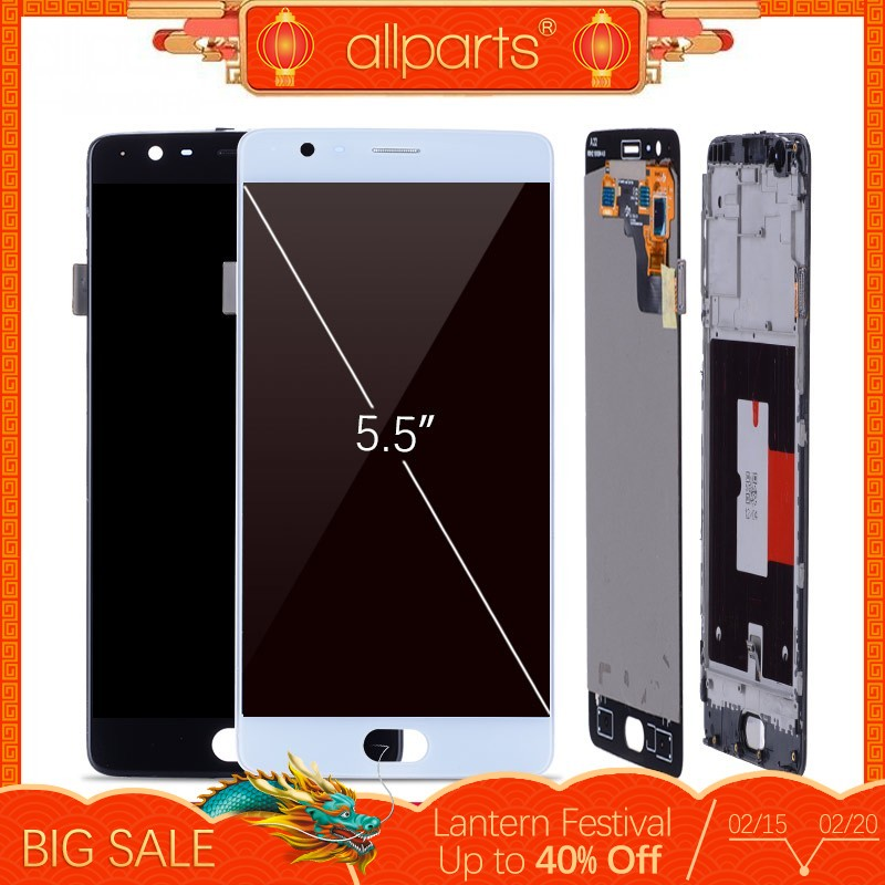 5,5 ''Оригинал AMOLED Дисплей для Oneplus 3 T ЖК-дисплей Дисплей Сенсорный экран с рамкой для Oneplus 3t 3 T A3000 Дисплей Замена