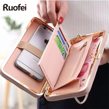 New fashion brand Purse wallet female famous brand card holders cellphone pocket gifts for women money bag clutch