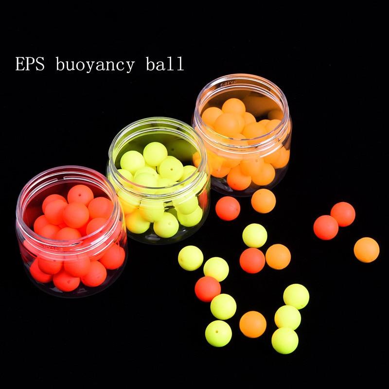 30 قطعة / صندوق ثلاثة ألوان flutuador boia eps الطفو الكرة الصيد تعويم قطرها 12 ملليمتر يطفو الصيد بيكي accesoires flotteur