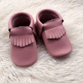 Pink Genuine Leather Girl Shoes Baby Moccasins