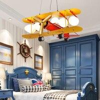 DIY акрил самолет подвесной светильник светодиодный современные детская спальня декоративные домашние освещения