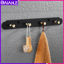 Robe Hook Black Bathroom Hook for Towels Key Bag Clothes Stainless Steel Coat Hooks Rack Wall Mounted Decorative Storage Hanger robe hook black clothes coat hook wall hanger decorative deer head bathroom hook for towels key bag hat rack bathroom hardware