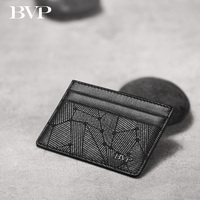 Famous BVP Brand Design High Quality Genuine Leather Man Card Holder Cow Leather Slim Mini Wallet Fashion Credit Card Bag j50