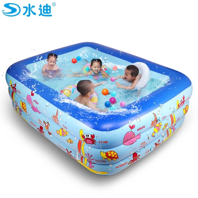 Family 3 layer higher Inflatable children bathtub with inflating ...