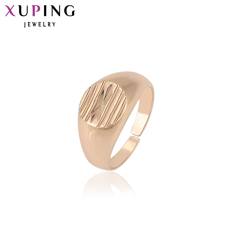 Xuping Fashion Ring Charming Rings Rose Gold Color Plated Fashion Jewelry High Quality Beautiful Design Christmas Gift 12743