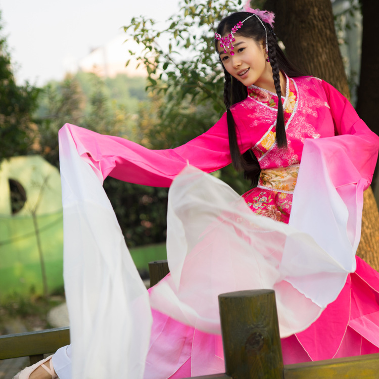 Chinese Classical Dance Clothes Red Blue Hanfu Ancient Costume Fairy Set Long Sleeve Costumes Princess Dynasty China Hanfu Dress