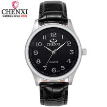 CHENXI Brand Top Luxury Leather Strap Man Watches Fashion Round Dial Gentleman Wristwatch Delicate Waterproof Quartz