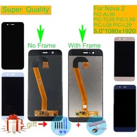 ORIGINAL For HUAWEI Nova 2 LCD Display Touch Screen Digitizer Assembly With Frame PIC AL00 PIC TL00 PIC LX9 PIC L09 PIC L29 LCD