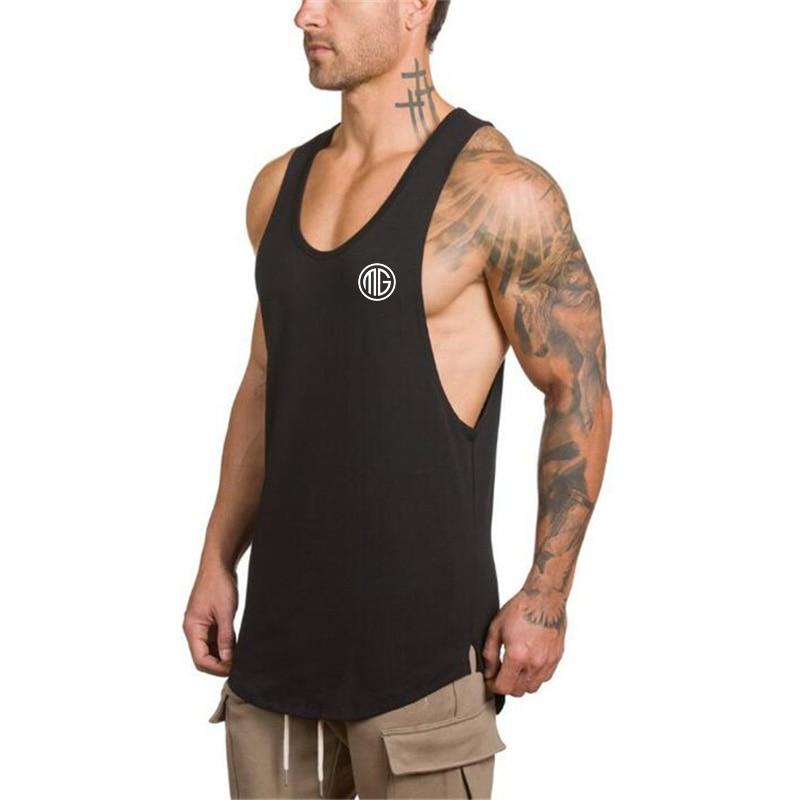 Fitness Men gyms   Tank     Top   Mens Bodybuilding Vest Stringer Undershirt Tanktop Singlet Brand Clothing Sleeveless Shirt
