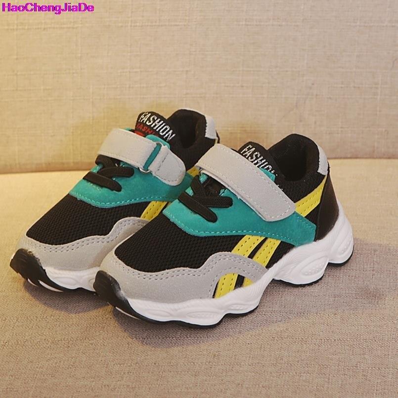 efb8d5c3 HaoChengJiaDe los niños las niñas niños zapatos deportivos de Primavera de  amortiguación suela antideslizante Patchwork transpirable zapatillas de  deporte ...