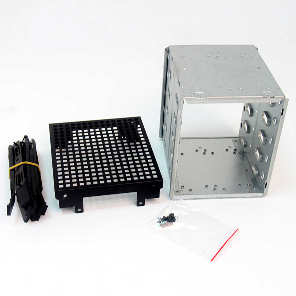 "NEW Arrival 5.25"" to 5x 3.5"" SATA SAS HDD Cage Rack Hard Drive Tray Caddy Converter with Fan Space Dropshipping"