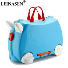 HOT fashion travel luggage locker boy girl car Toy box suitcase Can sit to ride baby Check box children holiday gift storage Box цена и фото
