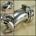Мужской CB CB целомудрие устройства пояс из нержавеющей стали металл катетер пениса замок целомудрие уретры пениса кольцо пояс верности мужской