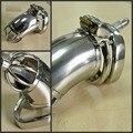 Masculino dispositivo de castidad CB CB cinturón catéter de metal de acero inoxidable cerradura del pene del anillo de castidad cinturón de castidad uretral del pene de los hombres