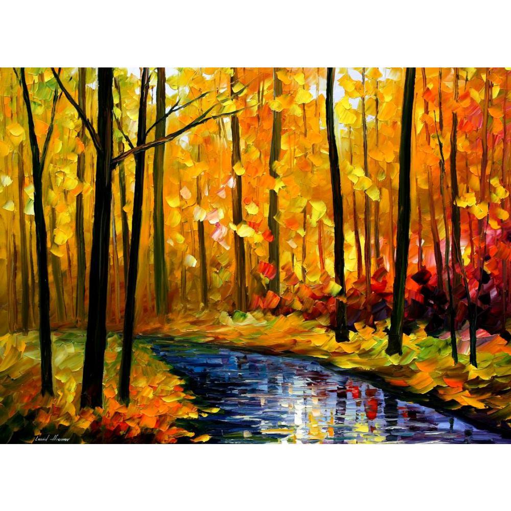modern art paintings for sale fall stream knife oil ...