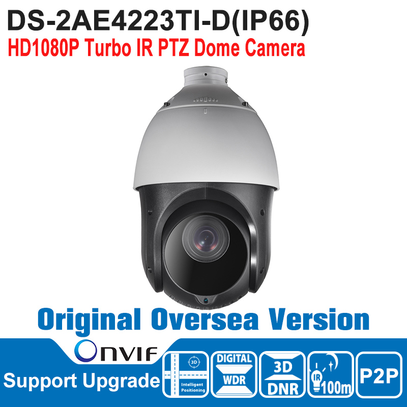 DS-2AE4223TI-D HIK PTZ Camera 2MP HD1080P Turbo IR PTZ Dome Camera Speed Dome Camera Outdoor IP66 ONVIF CMOS CCTV Camera ds 2df7274 ael hik ptz camera 1 3mp network ir ptz dome camera speed dome camera outdoor high poe ip66 h 264 mjpeg mpe