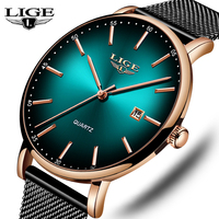 LIGE Top Brand Luxury Mens Watches Waterproof Ultra Thin Watches Date Simple Casual Quartz Watch For Men Sports Clock Watch 993