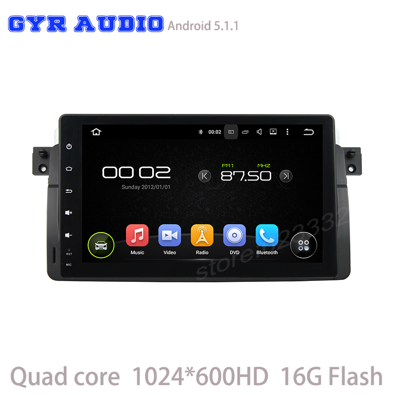 9″ Quad core 1024*600 screen android 5.1 Car navi GPS for BMW m3 E46 3 SERIES 318 320 330 with GPS WIFI 3G usb auto radio rds