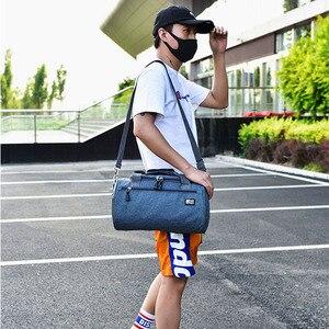 Image 3 - Дорожная Спортивная Сумка для мужчин, однотонный чемодан через плечо унисекс, портативные нейлоновые сумки, большая многофункциональная сумка на плечо для мужчин XA268WC