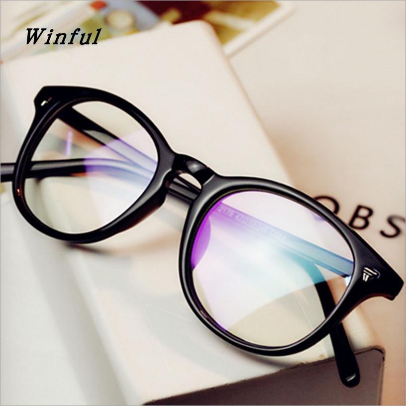 Marco de anteojos ópticos de la decoración de la vendimia redondo - Accesorios para la ropa