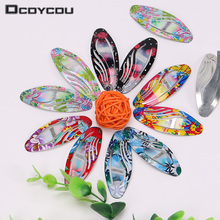10 PCS Fashion Kids Print Floral Colorful Hairpins Girls Chilren Cute Hair Clips Accessories