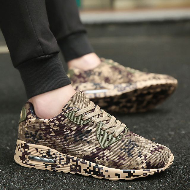 Couples Camo Running Sneaker Free Shipping