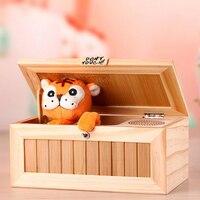 Funny Wood Useless Box Kids Gadgets Electronic Tiger Box Wooden