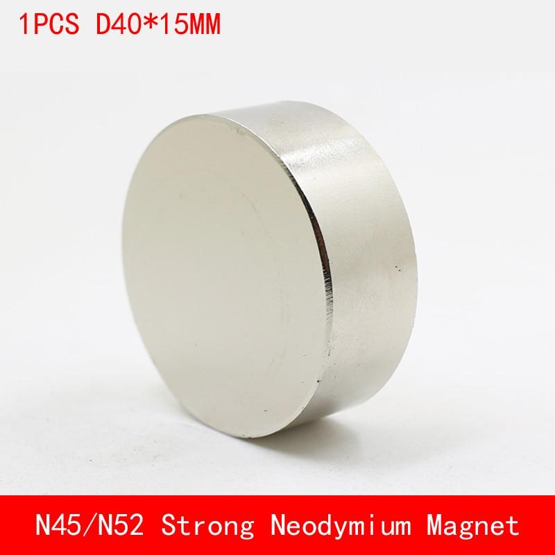 1PCS block D40x15mm N45 N52 Super Powerful Rare Earth NdFeB Magnet Neodymium N52 Magnets diameter 40mm thickness 15mm