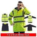 High Visibility Motorcycle Winter Reflective Safety Jacket Clothing Waterproof Windbreaker Rain Coat Cycling Protective Jackets