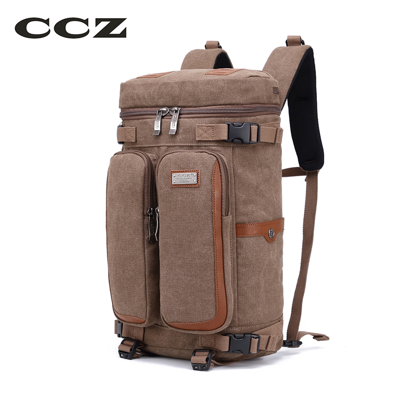 CCZ Canvas Travel Backpack 14 inch Laptop Backpack Canvas Bags Mens Shoulders Bag Men Backpack Luggage Bag Back Pack BK8013 pokemon pikachu haunter eevee bulbasaur canvas backpack students shoulders bag pocket monster haunter schoolbags laptop bags