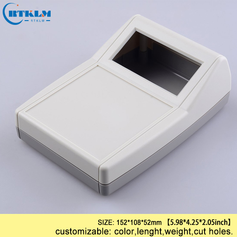 Plastic enclosure housing for electronics project box wire connection box abs desktop shell diy instrumen case 152*108*52mm 5pcs
