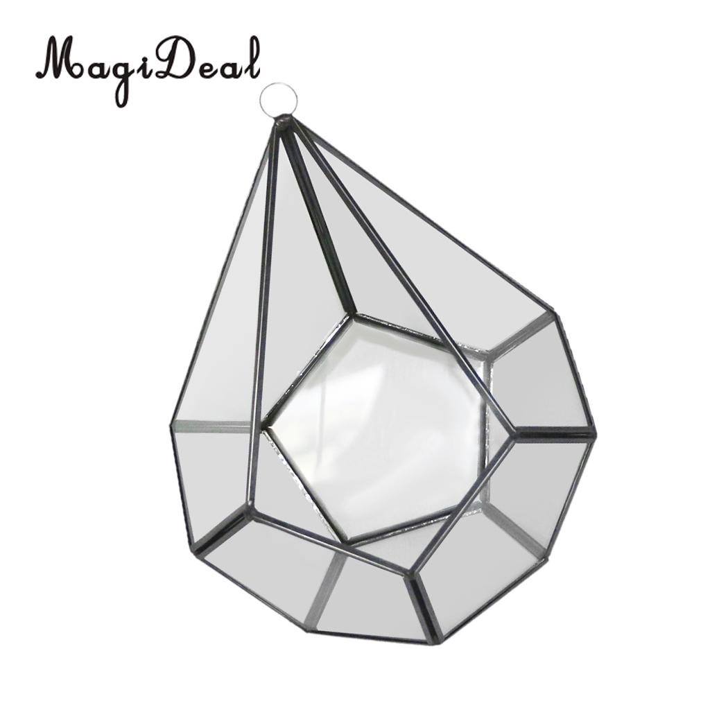 MagiDeal Clear Glass Terrarium Planter Succulent Plants Container Wall Hanging Ornament 12 Style PIICK