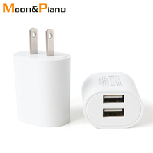 1PC US Adapter 5V2.1A Dual USB Charger For Smart Mobile Phone Charging AC/DC Adaptor Travel in Japan Thailand Canada Mexico