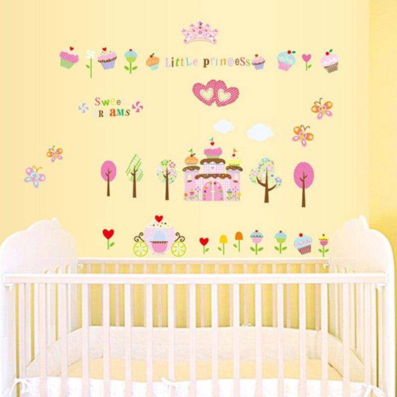 1pcs Cartoon Fairy Tale Princess Wall Sticker Home Decor Decals ...