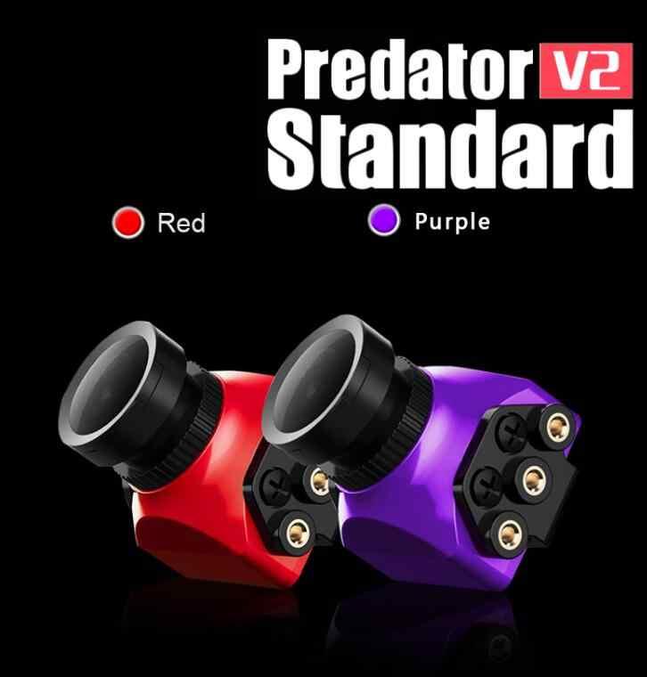 Foxeer Predator V2 estándar Mini 1000TVL 2,5mm lente 160 grados gran angular PAL FPV cámara Super WDR para carreras drone Quadcopter