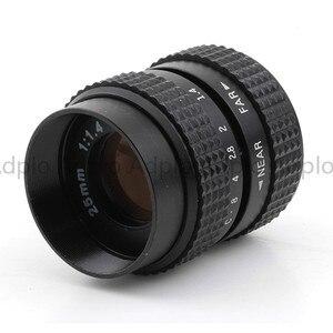 Image 2 - 25mm f1.4 CCTV C dağı Lens + C Mikro M4/3 NEX/N1/Pentax Q /Fuji/EF M M2 Adaptör Takımı Için Pentax Kamera + Lens Kapağı