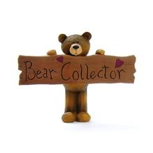 Причастие украшения медведь коллектор Иисус крест статуэтки медведя с бляшками Феи украшение для дома, сада аксессуары для украшения дома