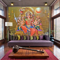 Free Shipping Southeast Asia Thailand and India yoga Hindu god statues mural wallpaper