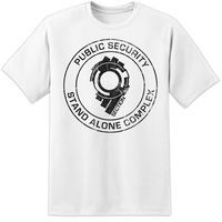 Ghost In The Shell Section 9 Distressed T Shirt Movie Hanko Robotics SAC Film 3D Men