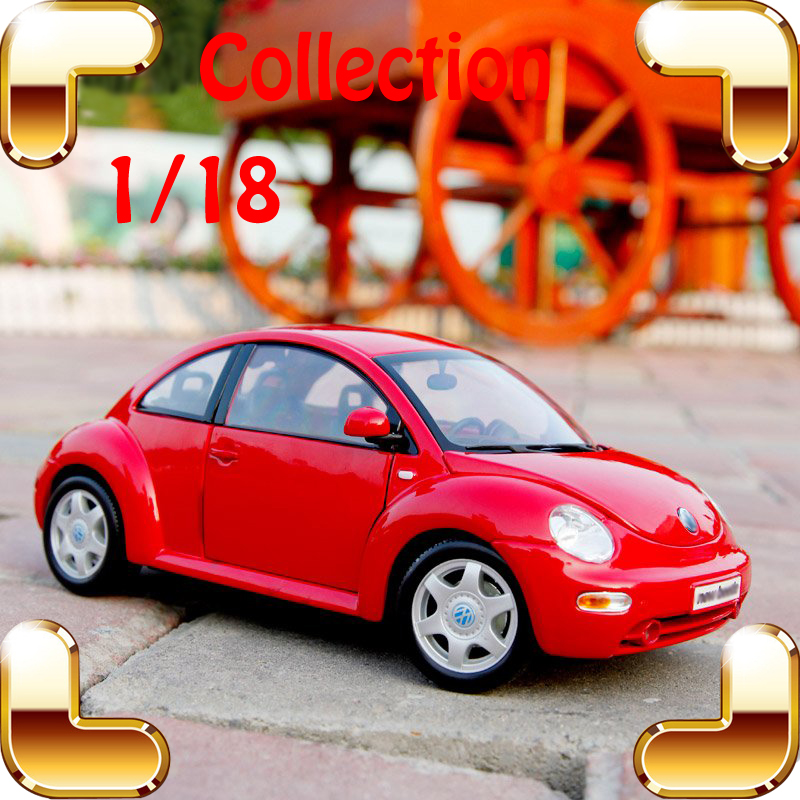New Year Gift Beetle 1/18 Metal Model Sedan Car Mini Collection Vehicle Classic Model Scale Alloy Toys House Decoration Present new year gift gallargo 1 18 large model metal car metallic scale simulation diecast alloy collection toys vehicle present